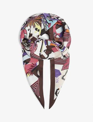 Eton Jazz-print silk losange scarf