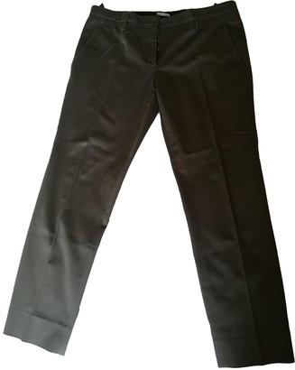 Miu Miu Khaki Cotton Trousers