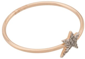 Kismet By Milka 14kt rose gold small Struck diamond star ring