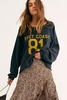 Original Retro Brand East Coast West Coast Cropped Sweatshirt by at Free People