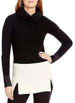 Pendleton Merino Wool Color Block Cowlneck Tunic