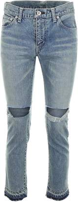 Sacai Distressed Cropped Jeans