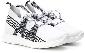 Versace Mesh Logo Running Sneakers