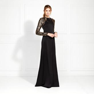 Rachel Zoe Miabella Embellished Satin-Backed Crepe Gown