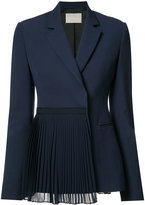 Jason Wu pleated panel blazer - women - Wool - 8