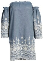 Kas Women's Off The Shoulder Chambray Dress