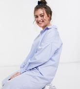 Daisy Street Plus oversized shirt dress in stripe