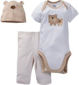Gerber Unisex-Baby Newborn 3 Piece Bodysuit Cap and Pant Set