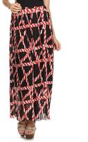 Black & Red Geometric Maxi Skirt - Plus Too