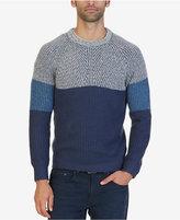 Nautica Men's Multi-Textured Colorblocked Sweater
