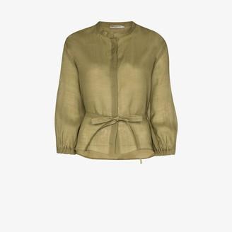 Three Graces Haddie button-down waist tie top