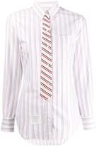 Thom Browne Trompe L'Oeil bow tie shirt