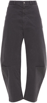 Nili Lotan Emerson Cropped Cotton-blend Twill Tapered Pants