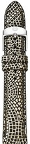 Michele Gold Mosaic Leather Watch Strap, 16mm