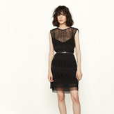 Maje Short dress with see-through detailing