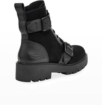 UGG Zorrah Waterproof Mix-Leather Combat Boots