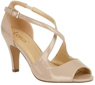 Lotus Footwear Womens Lotus Peep Toe Heeled Shoe - Nude