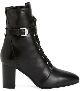 Aquatalia Fawne Leather Ankle Boots