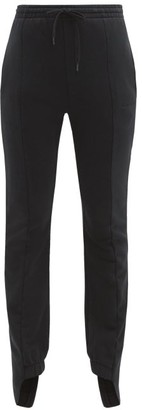 Vetements Cotton-blend Slim-leg Track Pants - Womens - Black