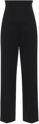 Alaia High-rise cotton straight pants
