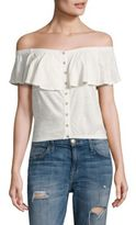 Free People Love Letter Off-the-Shoulder Cropped Top