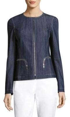 Lafayette 148 New York Malia Zip-Front Jacket