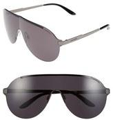 Carrera Men's Eyewear 135Mm Shield Sunglasses - Black Ruthenium/ Grey
