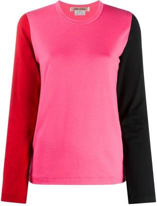 Comme des Garcons colour-block long-sleeved T-shirt