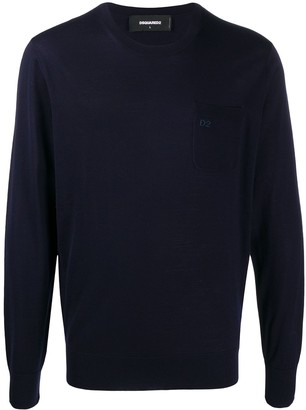 DSQUARED2 Embroidered Crew Neck Jumper