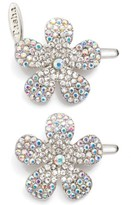 Tasha Set Of 2 Crystal Flower Hair Clips