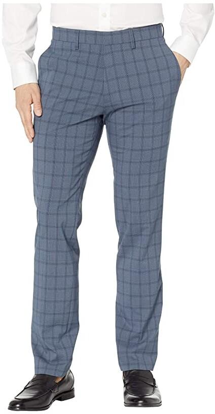 0b59bc02537d1 Stretch Bold Plaid Slim Dress Pants