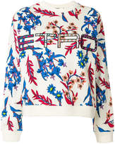Etro floral print branded sweatshirt
