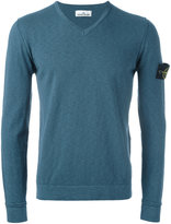 Stone Island v-neck jumper - men - Cotton/Polyamide - M