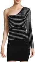 Ronny Kobo Women's One-Sleeve Stripe Top