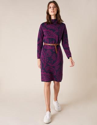 Under Armour Paisley Jacquard Knit Dress Blue