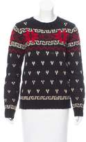 Moncler Intarsia Crew Neck Sweater