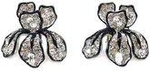 Kenneth Jay Lane Large Crystal Iris Clip On Earrings