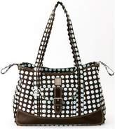 Kalencom Heavenly Dots Week-Ender Bag, Chocolate/Blue