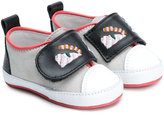 Fendi monster face slippers - kids - Calf Leather/Leather - 16