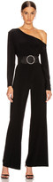 Norma Kamali Long Sleeve Drop Shoulder Jumpsuit in Black | FWRD