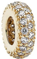 Pandora Spacer - 14k Gold & Cubic Zirconia Inspiration Within, Moments Collection