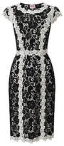 Phase Eight Hanan Lace Dress, Black/Ivory