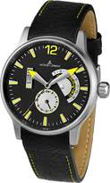 Jacques Lemans Porto Men's 44mm Leather Stainless Steel Case Date Watch 1-1741J