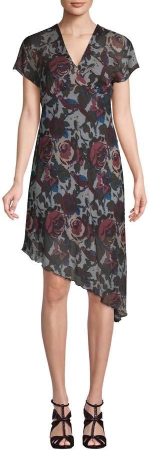 Anna Sui Women's Asymmetric Floral Shift Dress
