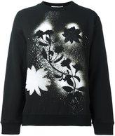 Christopher Kane stencil floral sweatshirt - women - Cotton/Spandex/Elastane/Viscose - XS