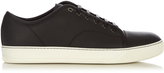 Lanvin Low-top debossed leather trainers