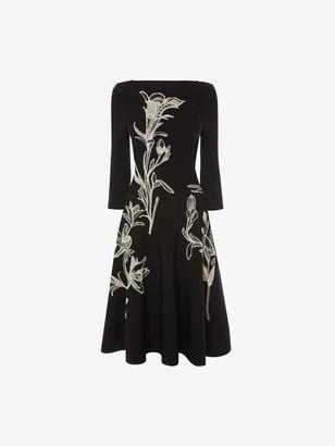 Alexander McQueen Flower Jacquard Dress