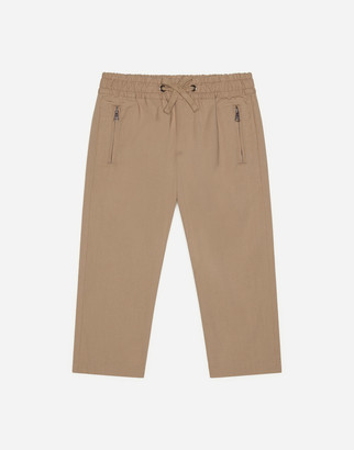 Dolce & Gabbana Poplin Pants With Patch