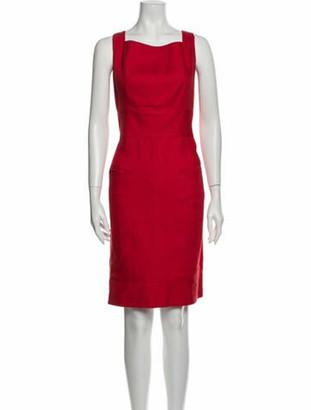 Valentino Vintage Knee-Length Dress Red