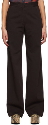 Dries Van Noten Brown Twill Oversized Trousers